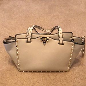 Handbags - INZI PEARL N STUDDED TOTE